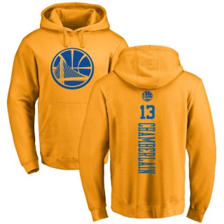 Men's Wilt Chamberlain Golden State Warriors Gold One Color Backer Pullover Hoodie