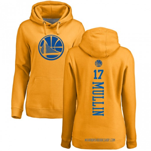 Women's Chris Mullin Golden State Warriors Gold One Color Backer Pullover Hoodie