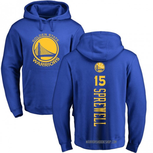 Youth Latrell Sprewell Golden State Warriors Gold Royal Backer Pullover Hoodie